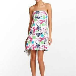 Lilly Pulitzer Clyde Dress Strapless Rock My Boat